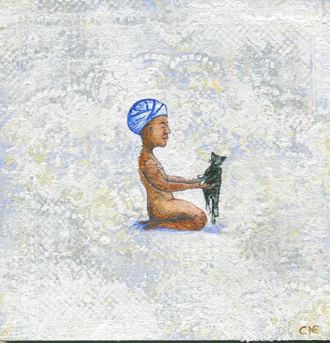 Bandagebarn med katt